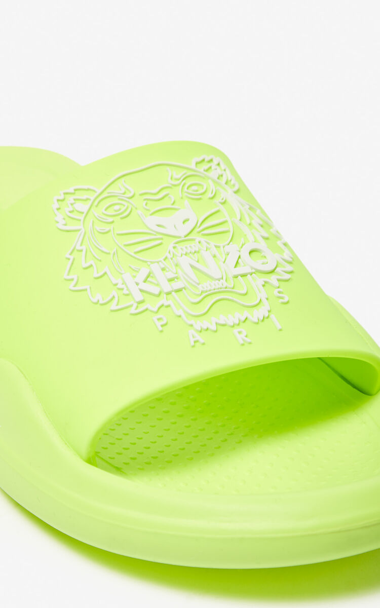 LEMON Tiger Pool Mules 'High Summer Capsule collection' for unisex KENZO