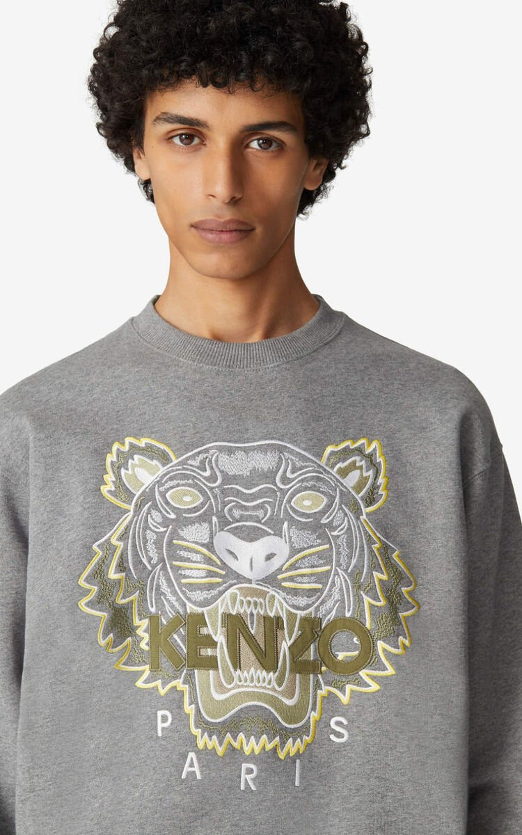 DOVE GREY 'Tiger' sweatshirt for men KENZO