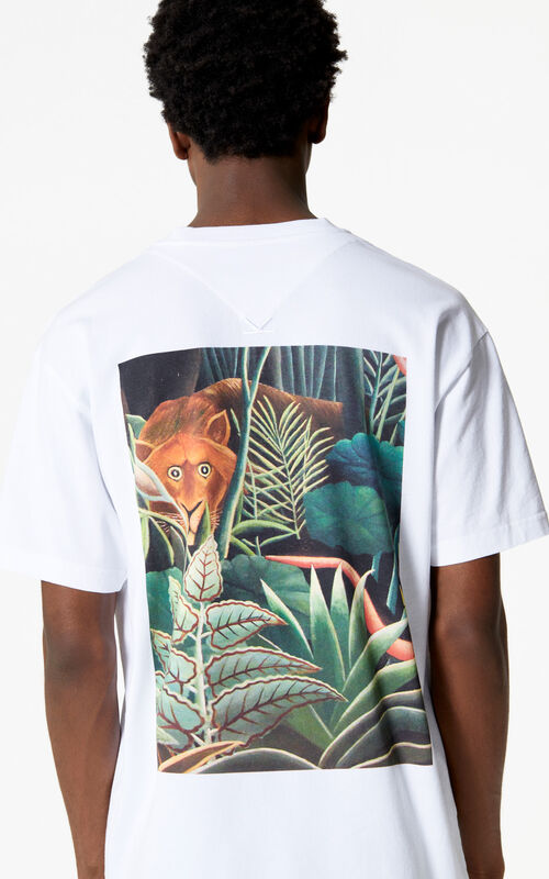 WHITE Jungle Tiger T-shirt for women KENZO