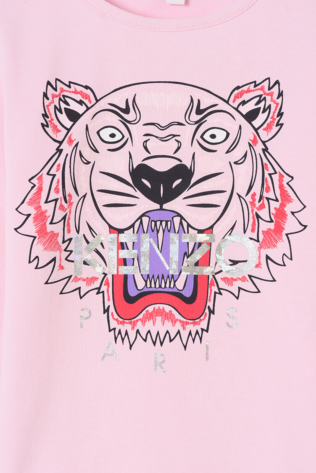 FADED PINK Tiger Long T-shirt for women KENZO