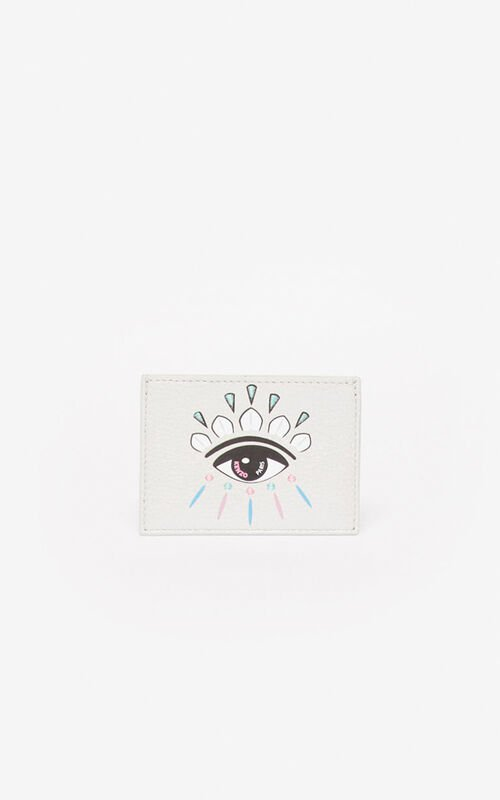 SILVER Kontact Eye card holder for men KENZO