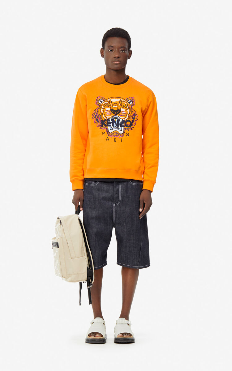 MEDIUM ORANGE Tiger sweatshirt for men KENZO