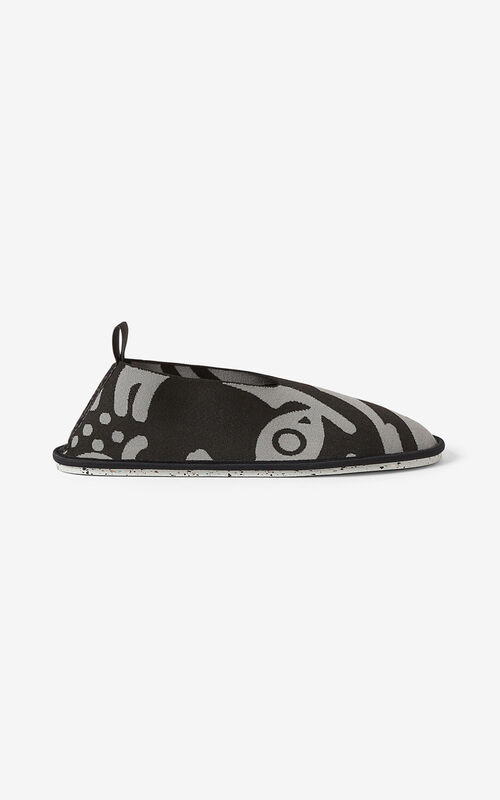BLACK K-Tiger K-Knit loafers for unisex KENZO