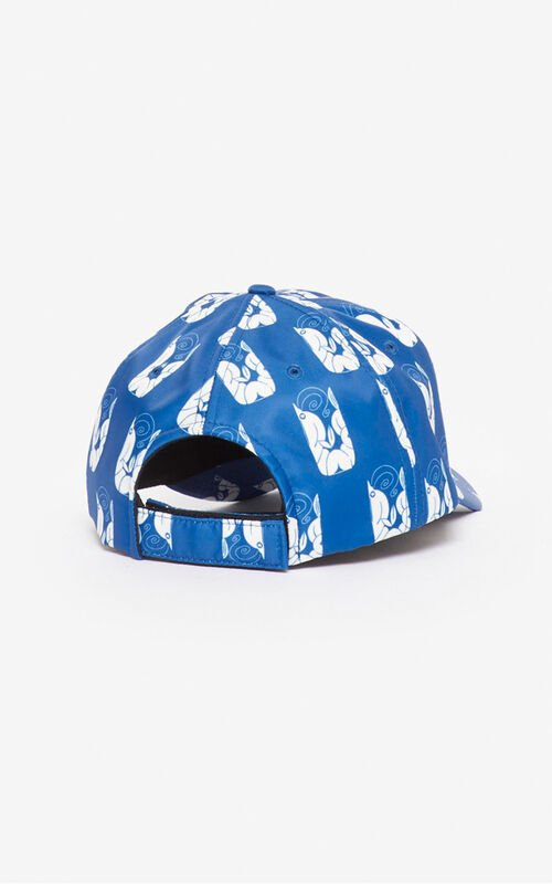 NAVY BLUE 'Shrimps' baseball cap for unisex KENZO