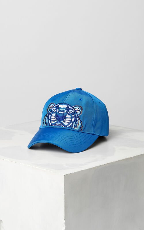 ELECTRIC BLUE Tiger Canvas Cap   for unisex KENZO