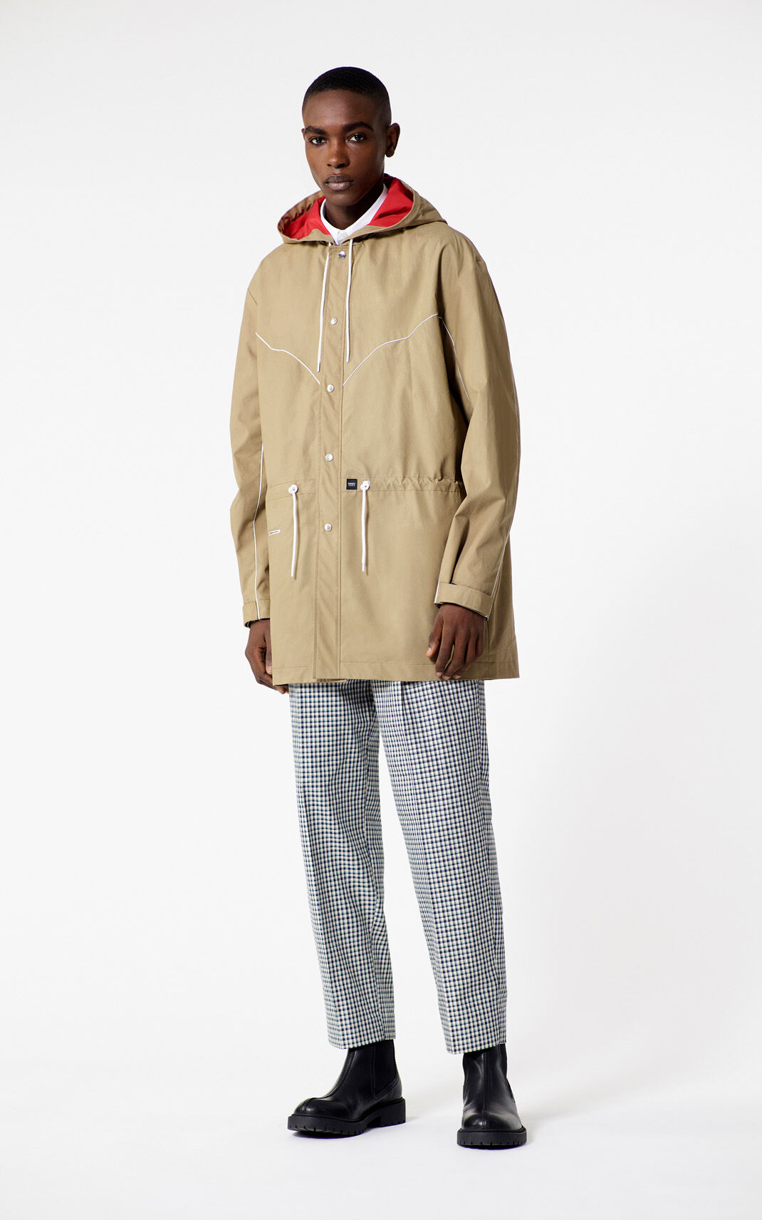 DARK CAMEL Lightweight parka for men KENZO