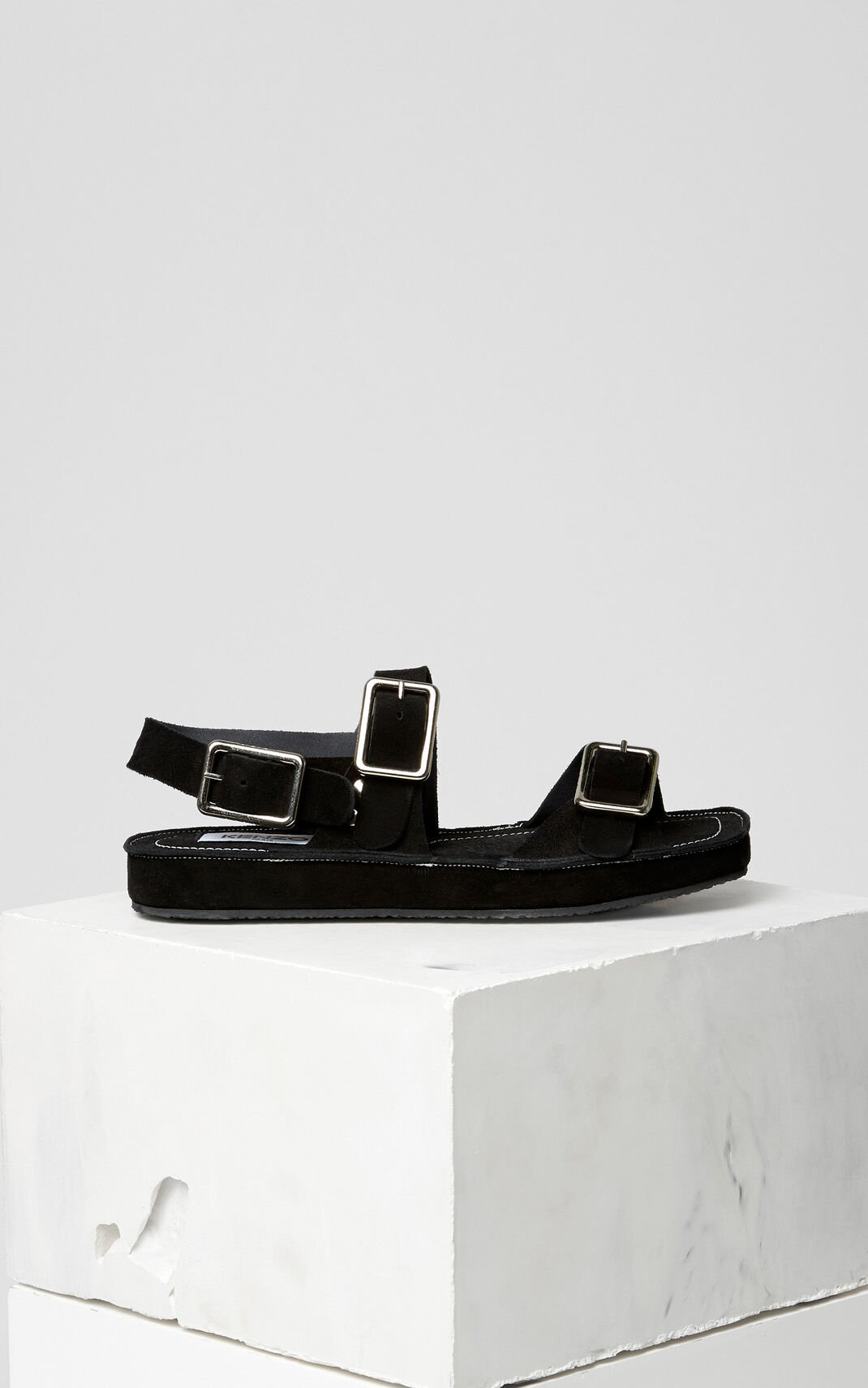 BLACK Massi flat sandals for women KENZO