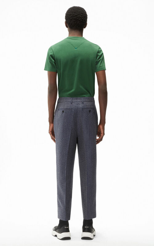 MIDNIGHT BLUE Cropped pants for men KENZO