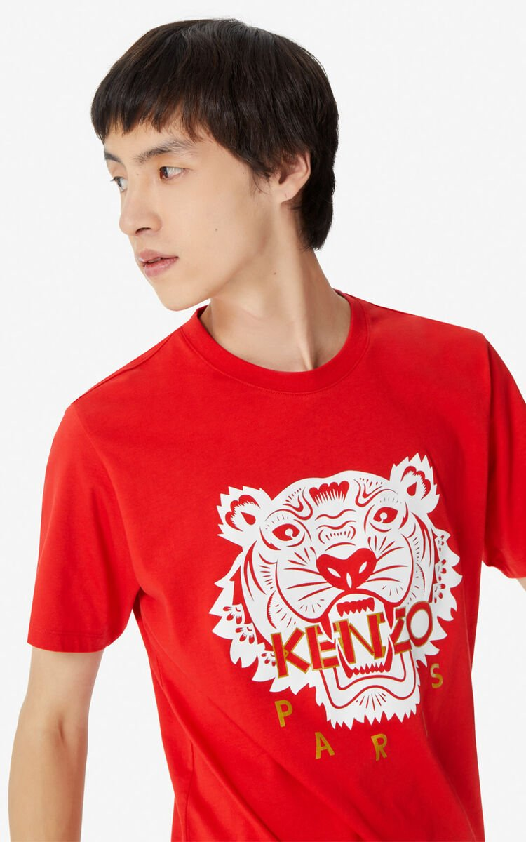 MEDIUM RED 'Chinese New Year Capsule' Tiger t-shirt for men KENZO