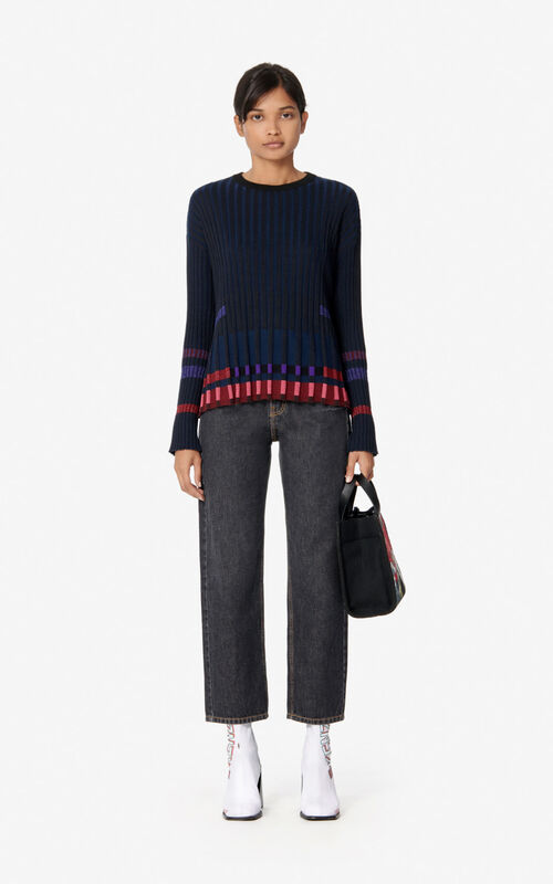 BLACK Pleated jumper for women KENZO