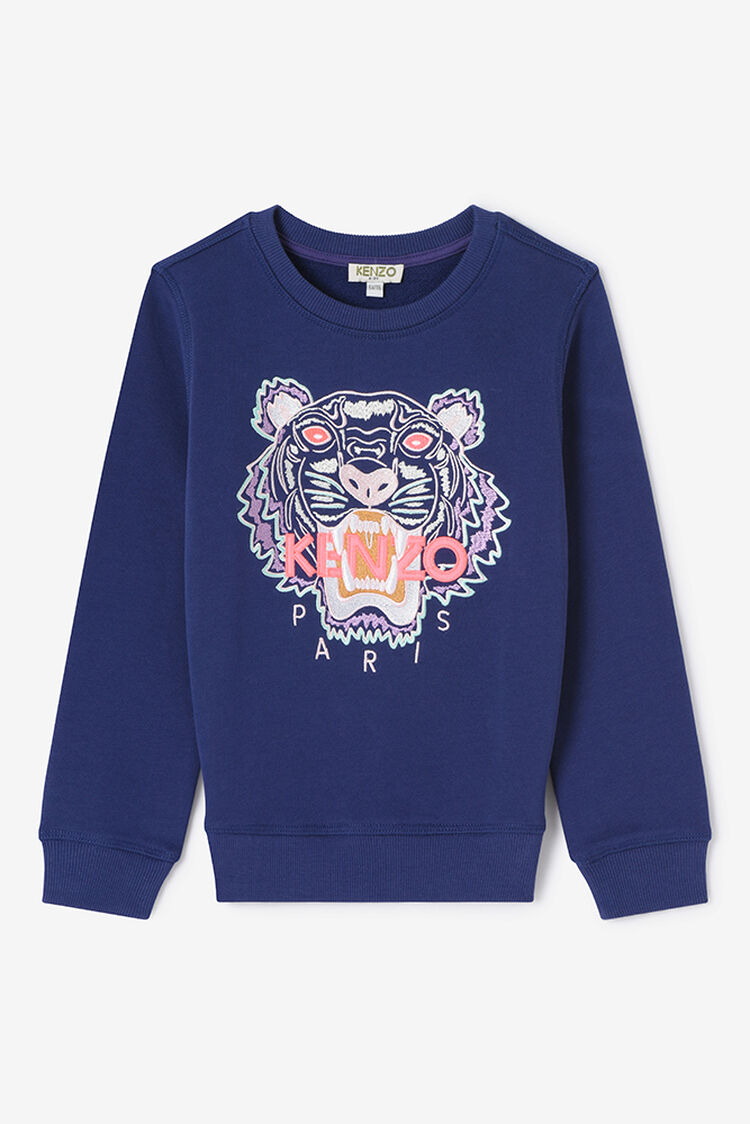 BRIGHT PURPLE Tiger Sweatshirt for women KENZO