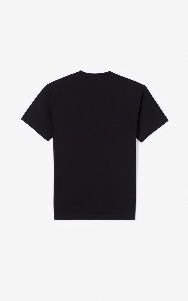 BLACK 'Double Tiger' T-shirt for men KENZO
