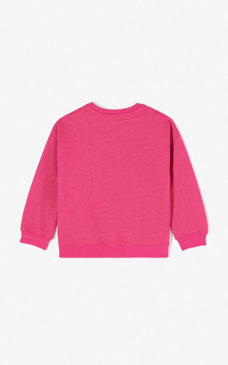 DEEP FUSCHIA Sequinned Tiger sweatshirt for men KENZO