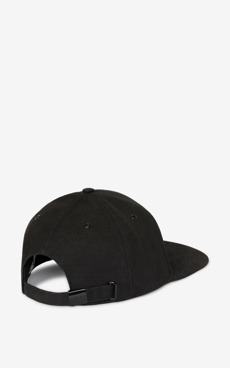 BLACK Tiger Crest cap for unisex KENZO