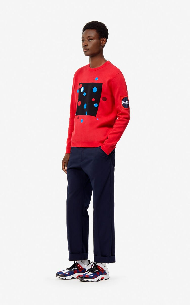 MEDIUM RED 'Dots' jumper for women KENZO