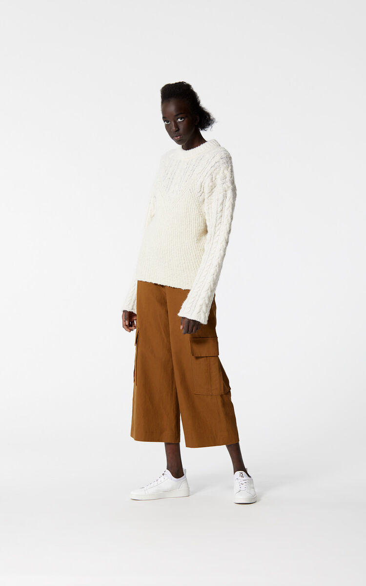 WHITE Illusion jumper for women KENZO