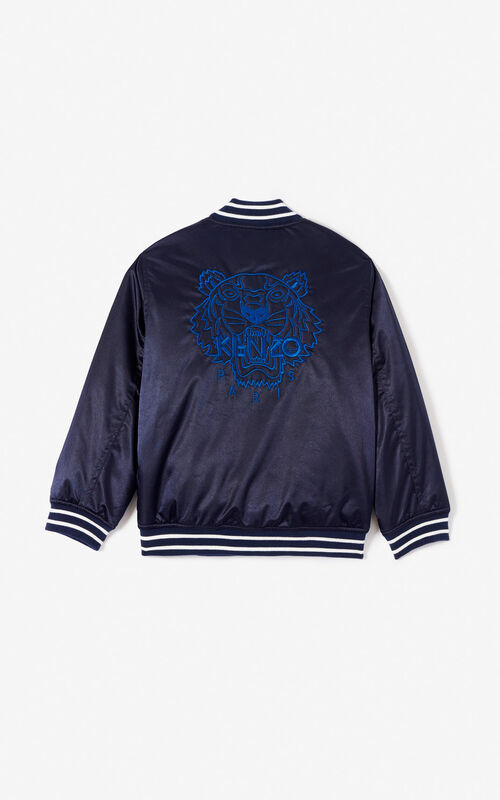 8872b0fd5c2e ... NAVY BLUE Quilted Tiger bomber jacket for men KENZO