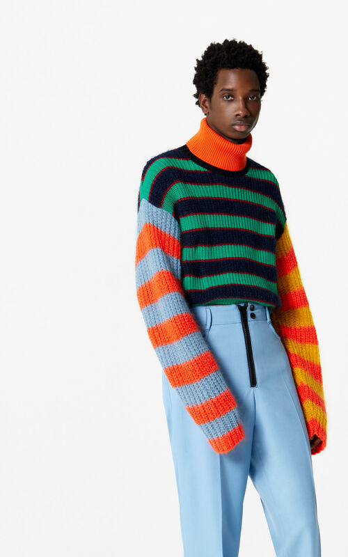 MULTICOLOR Striped turtleneck jumper for men KENZO