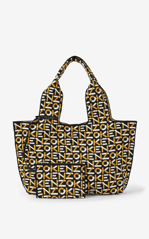 GOLDEN YELLOW Skuba monogram tote bag for unisex KENZO