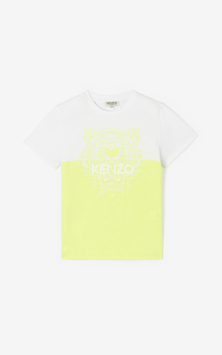 GOLDEN YELLOW Two-tone Tiger T-shirt for men KENZO