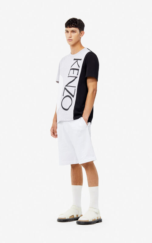 PEARL GREY 'Square Logo' T-shirt for men KENZO
