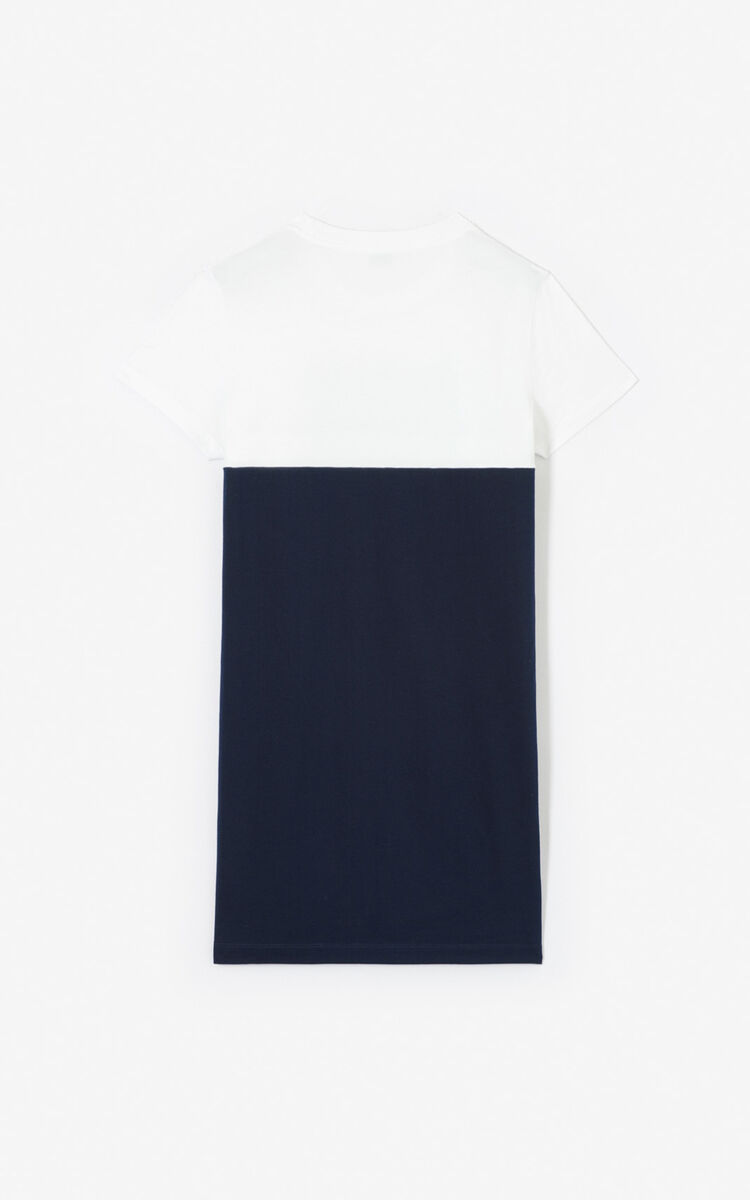 MIDNIGHT BLUE Colorblock Tiger' t-shirt dress for women KENZO