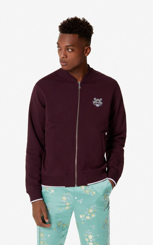 BORDEAUX Tiger varsity style jacket for men KENZO