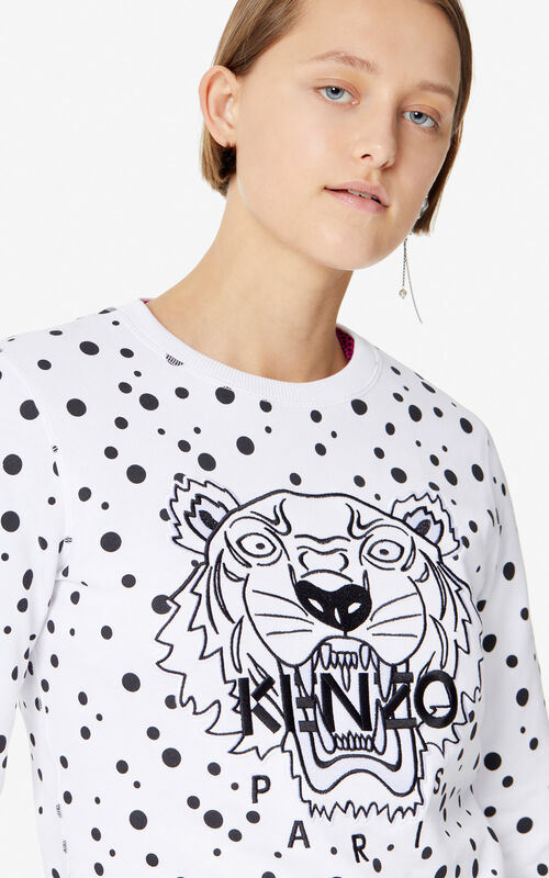 BLACK 'Dots' Tiger sweatshirt for women KENZO