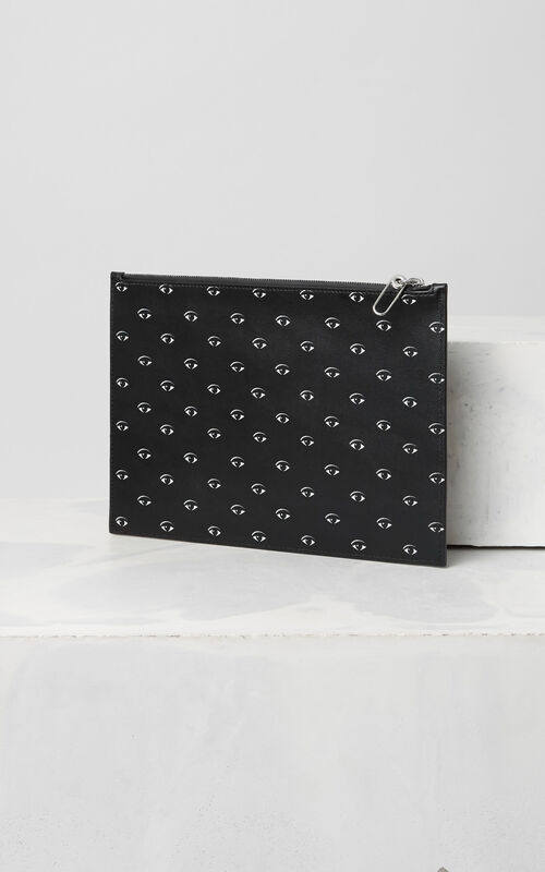 BLACK Multi Eye Pouch  for men KENZO