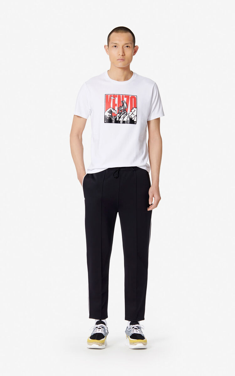 WHITE 'Tiger Mountain' T-shirt for men KENZO