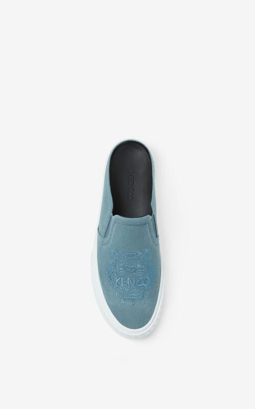 GLACIER Canvas K-Skate Tiger mule sneakers for unisex KENZO