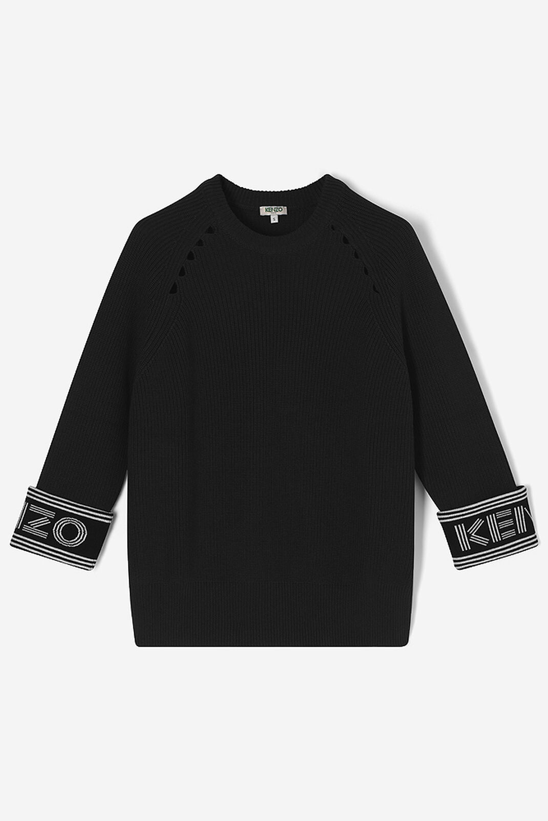 BLACK Knitted KENZO jumper for women
