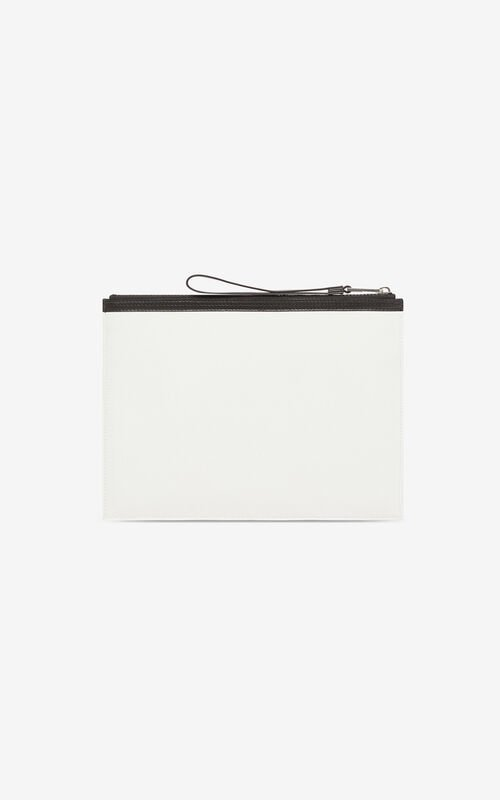 OFF WHITE KENZO Logo A4 clutch for unisex
