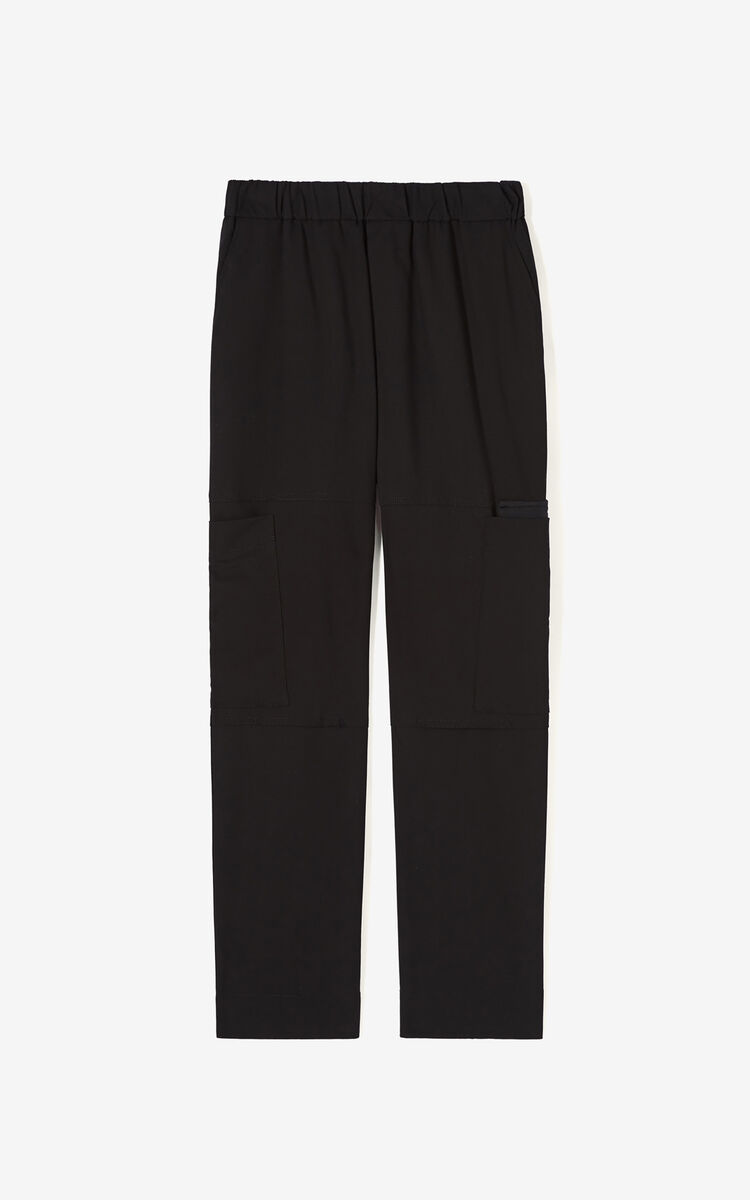 BLACK Cargo trousers for women KENZO