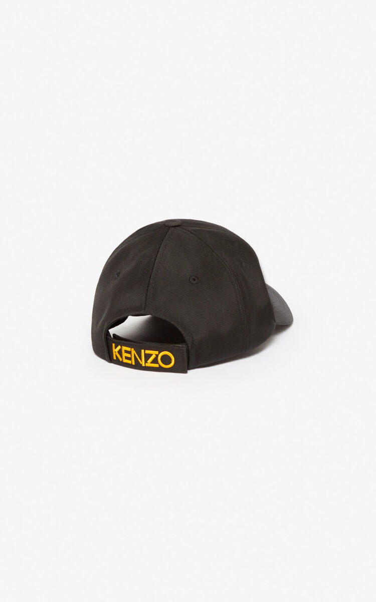 BLACK Tiger Canvas Cap for unisex KENZO