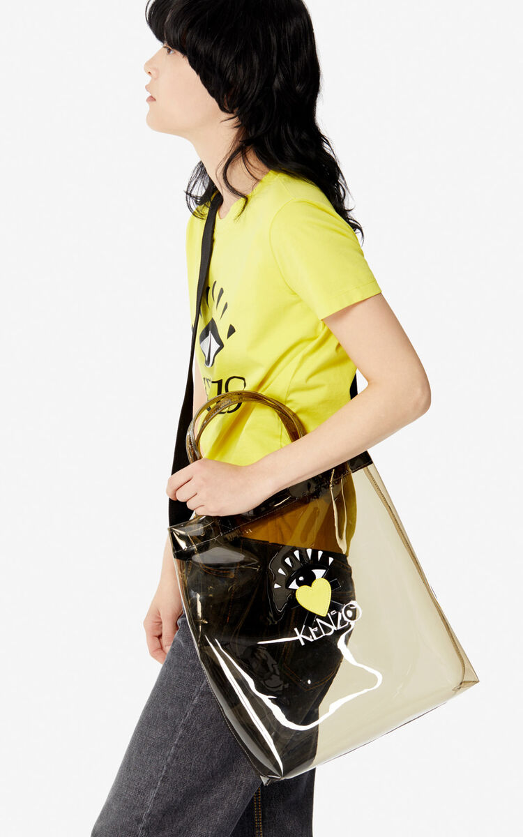 ANTHRACITE 'Cupid' tote bag for unisex KENZO