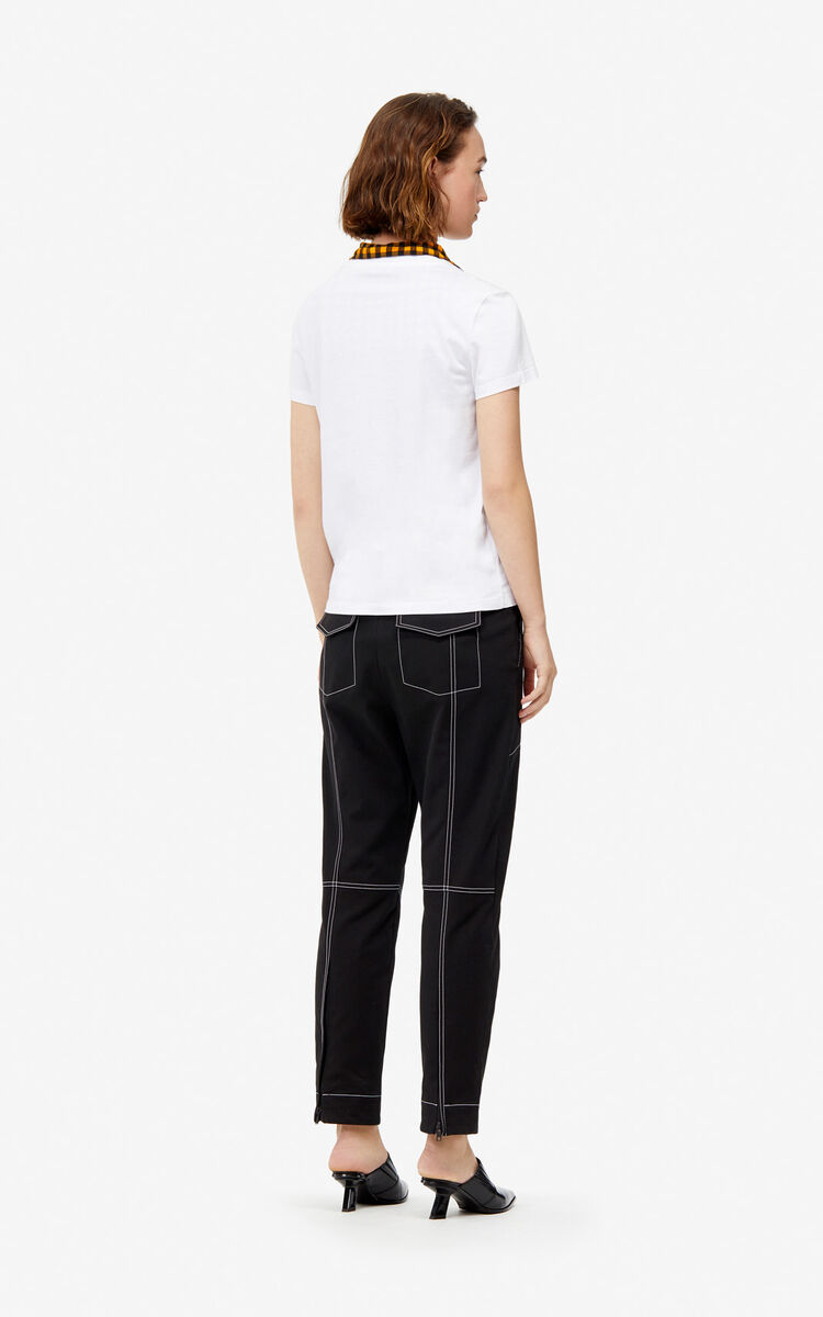 BLACK High-waisted trousers for women KENZO