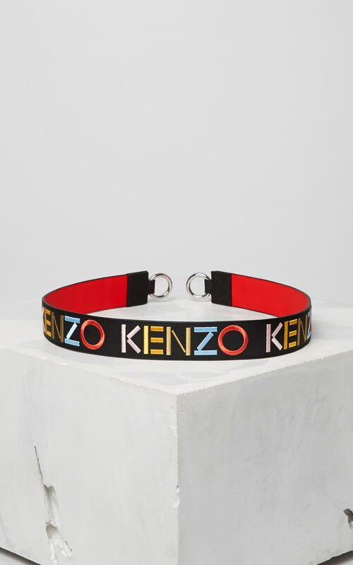BLACK KENZO Logo shoulder strap for women