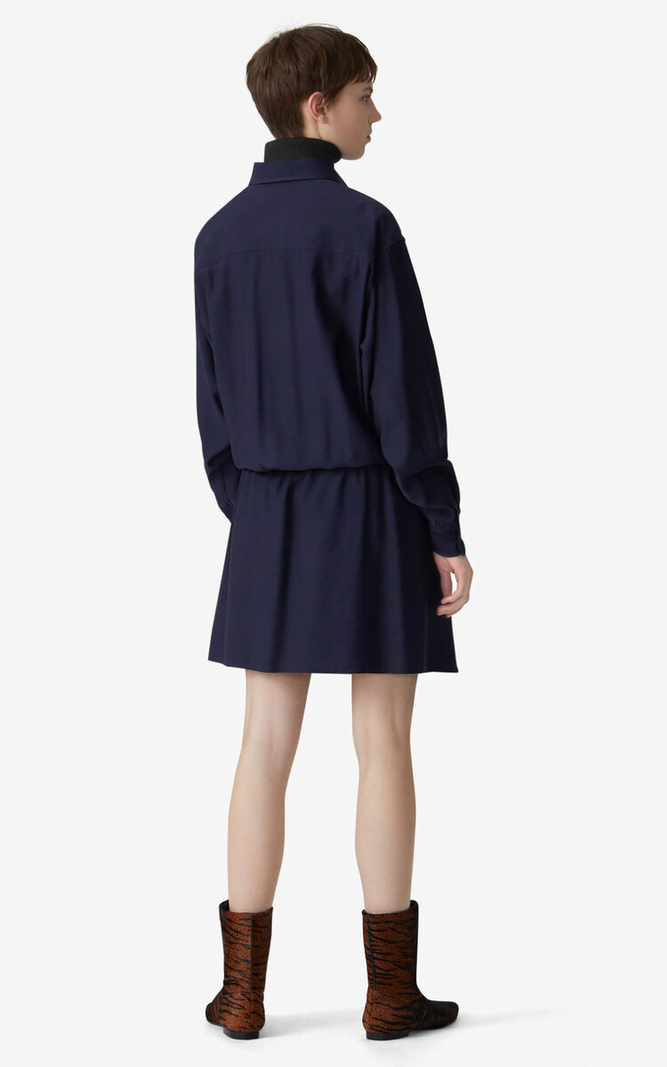 NAVY BLUE Shirt dress for women KENZO
