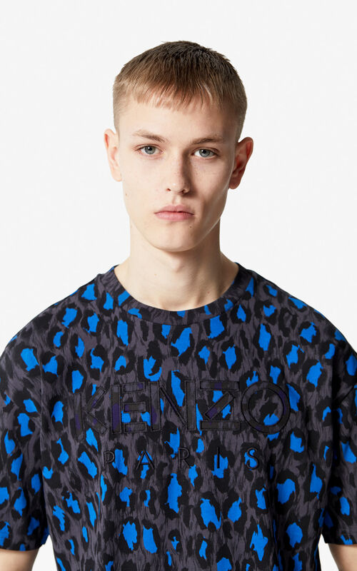 ANTHRACITE KENZO Paris 'Leopard' t-shirt for men