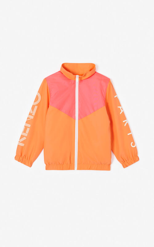 MEDIUM ORANGE Colourblock vest with KENZO logo for women