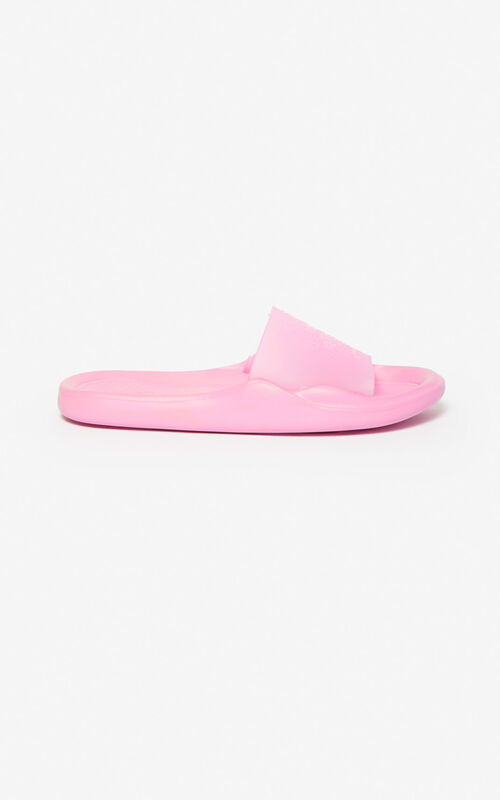 FLAMINGO PINK Tiger pool mules  for unisex KENZO
