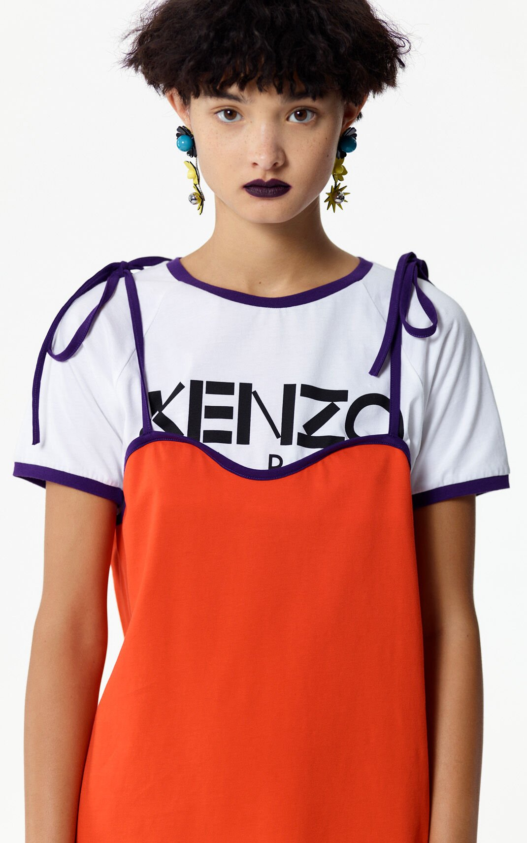 MEDIUM RED KENZO Paris 2-in-1 t-shirt for women