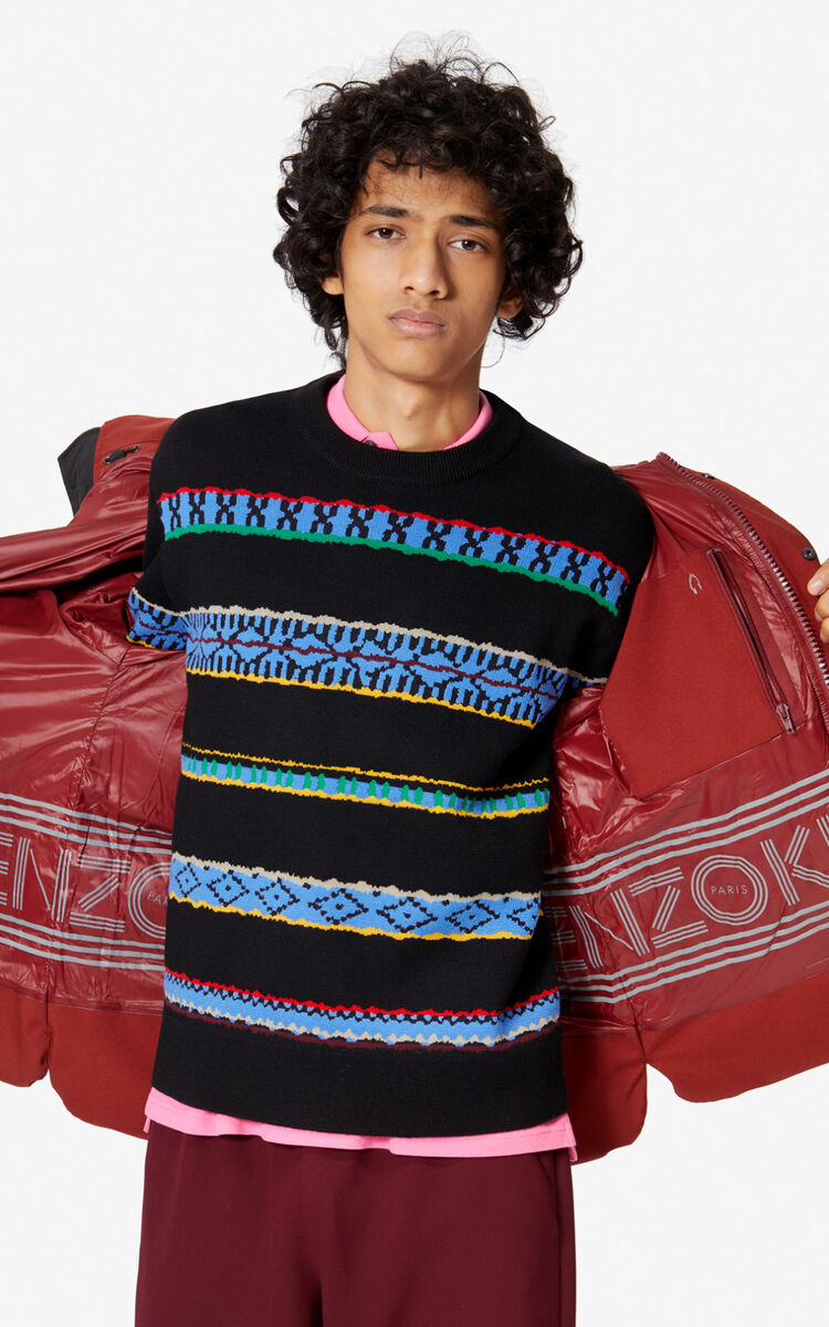 COGNAC Quilted puffer jacket for men KENZO
