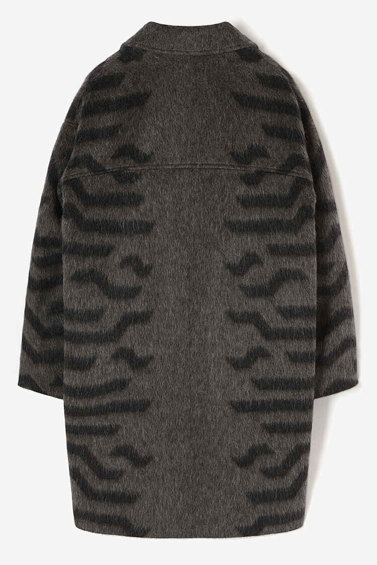 PALE GREY Cocoon' Coat in Wool for women KENZO