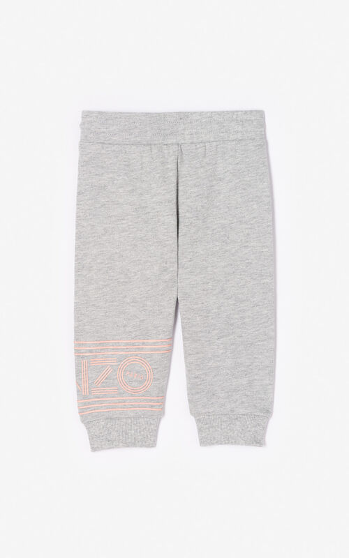 67f0871703 ... MIDDLE GREY Joggers with Kenzo logo for women