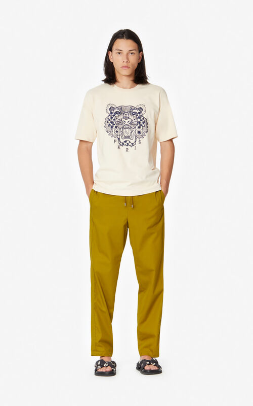 ECRU 'Ikat' Tiger t-shirt for men KENZO