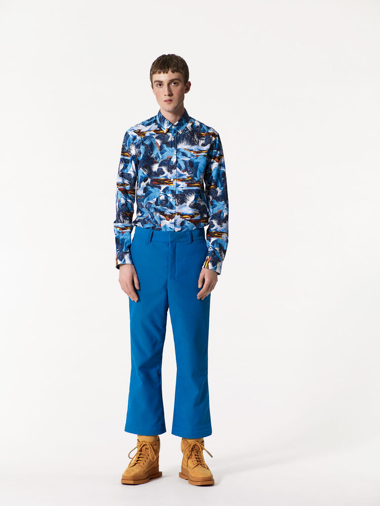 TURQUOISE 'Tropical Ice' Shirt for men KENZO