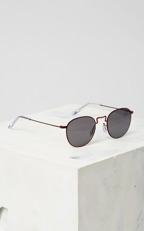 MEDIUM RED Flat Lens 'Knox' Sunglasses for unisex KENZO