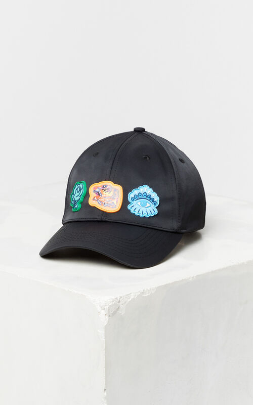 BLACK Multi-icon cap 'Go Tigers Capsule' for unisex KENZO
